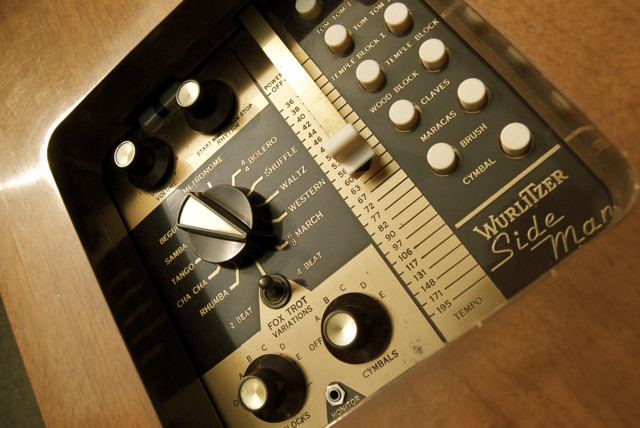Wurlitzer Sideman the first beat box