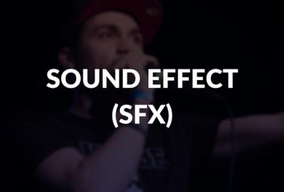 Sound effect (sfx) defined.