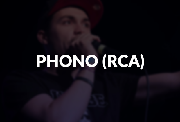 Phono (RCA) defined.