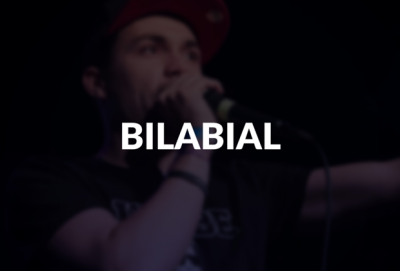Bilabial defined.