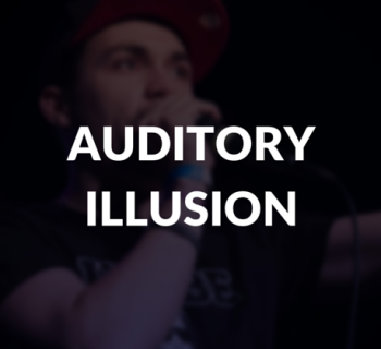 Auditory illusion definition.