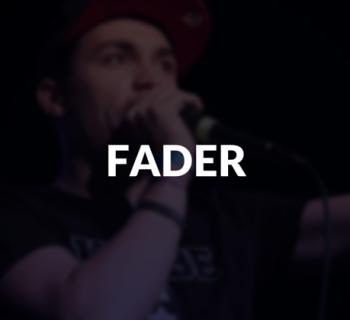 Fader defined.