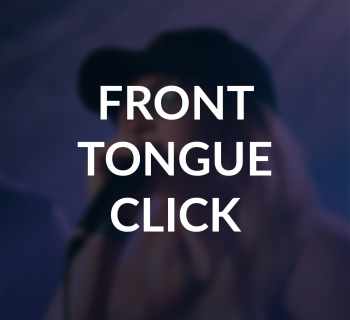Front Tongue Click Beatbox techniques. Learn to beatbox. Human Beatbox Sound Archive Thumbnail.