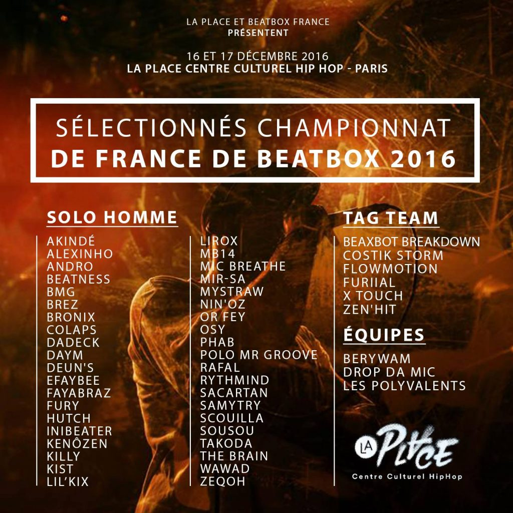 French Beatbox Championship 2016 flyer