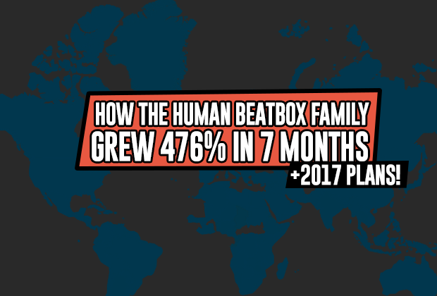 How the Human Beatbox Family grew 476% ins 7 months